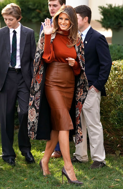 Melania Trump Wears a Colorful Stella McCartney Coat for Thanksgiving and More of Her Most Stylish Moments