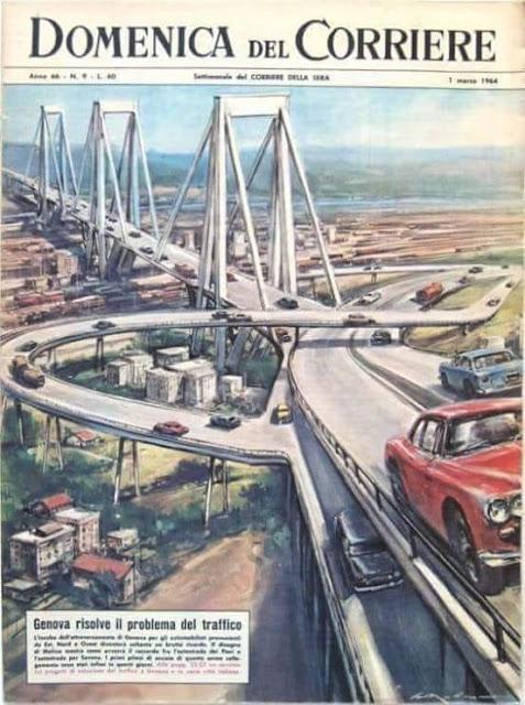 """Il Ponte Morandi a Genova, """"gioiello di ingegneria""""."""