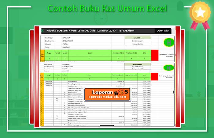 Contoh Buku Kas Umum Excel