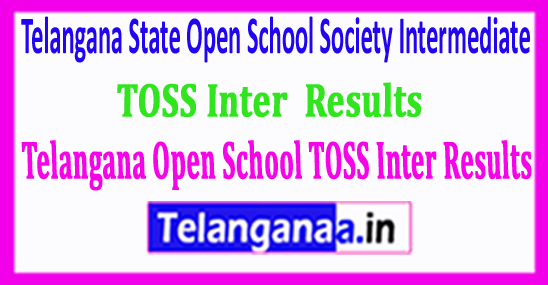 Telangana TS Open School TOSS Inter Results 2018