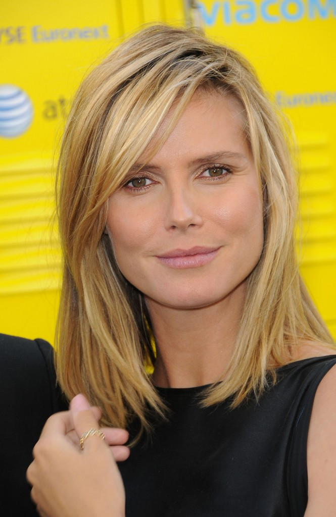 haircut styles for medium length straight hair styles oscar heidi klum bob haircut 8836 | hairstyles for medium length hair heidi klum shoulder length straight hairstyle