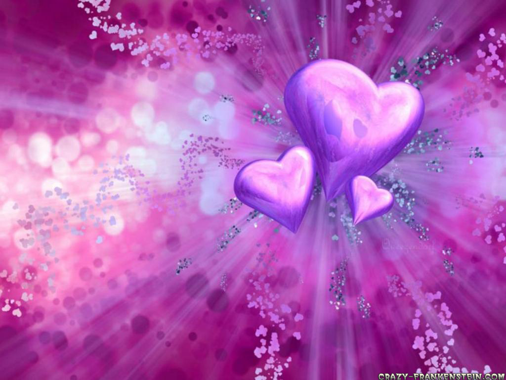 Purple And Black Hearts Wallpaper: Purple Background Wallpapers