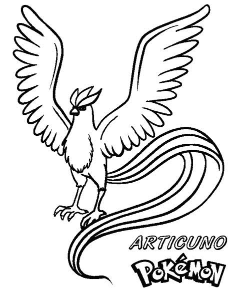 - Pokemon Articuno Coloring Pages Printable - Free Pokemon Coloring Pages