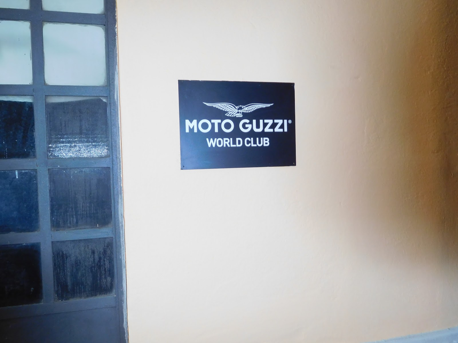 Tigh and Alex at the Moto Guzzi World Club on Lake Como