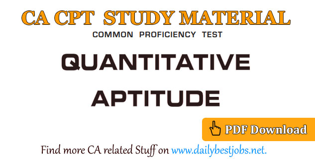 cpt quantitative aptitude solutions pdf free download study material