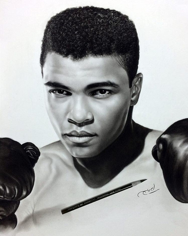 04-Muhammad-Ali-aymanarts-Realistic-Drawings-of-Celebrities-and-Other-www-designstack-co