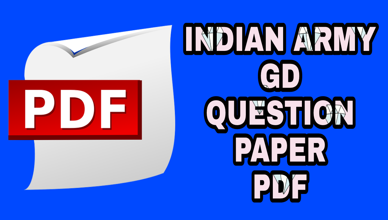 Indian Army GD Question Paper in Hindi PDF Download