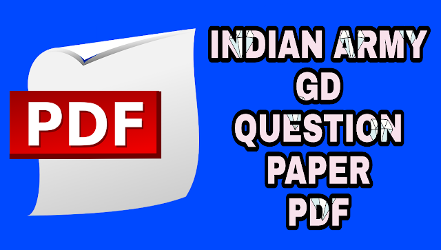 Indian Army GD Question Paper in Hindi PDF