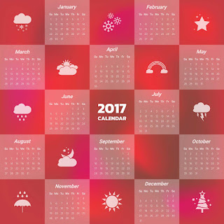 2017カレンダー無料テンプレート183