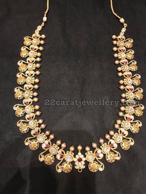 Lakshmi Haram with South Sea Pearls