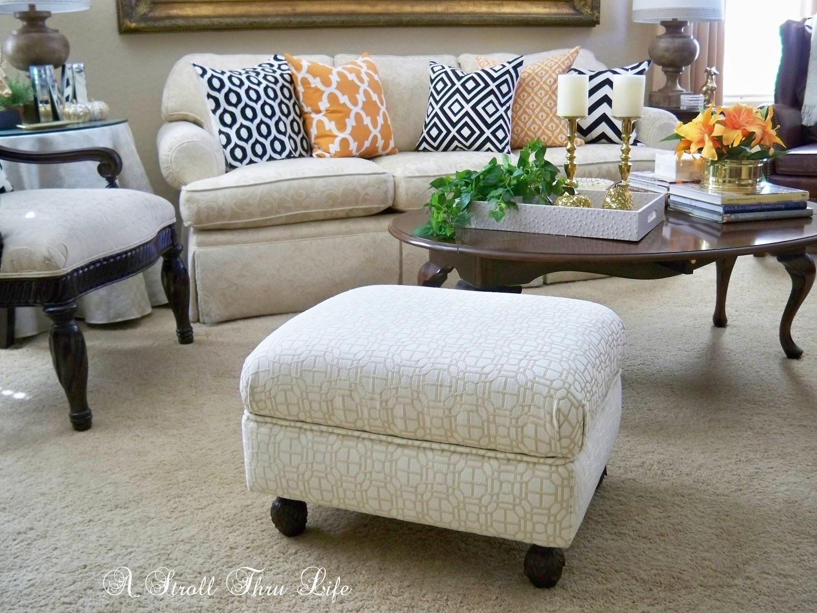 a stroll thru life how to make upholster an ottoman