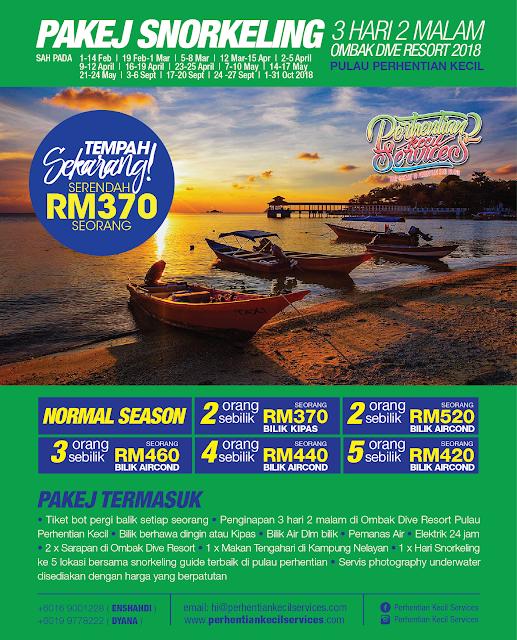 Ombak Resort , Pakej Pulau Perhentian 2018 , Pakej Perhentian 2018