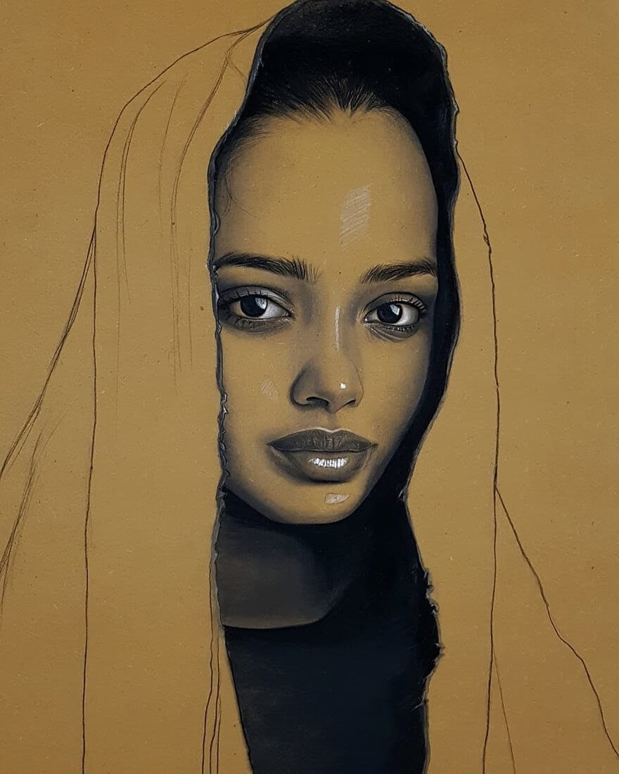 08-Husam-Wleed-Charcoal-and-Chalk-Pastel-Portrait-Drawings-www-designstack-co
