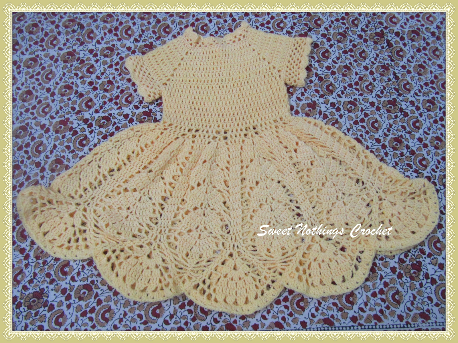Sweet nothings crochet beautiful lotus baby dress beautiful lotus baby dress free crochet pattern bankloansurffo Choice Image