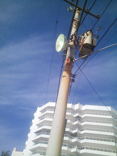 Mudança de refletores na praia do Buracāo, mais segurança na área