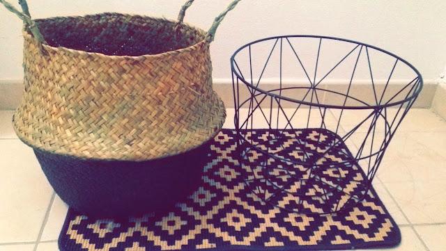 déco décoration home panier osier tapis industrielle ethnique corbeille