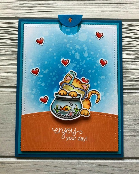 Interactive Newton Card by June Guest Designer Megan Quinn | Newton's Summer Vacation Stamp Set by Newton's Nook Designs #newtonsnook #handmade