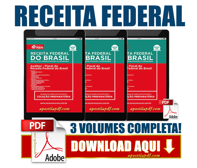 Apostila Auditor Fiscal da Receita Federal 2016 PDF Download