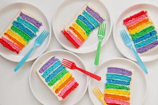 Sejarah dan Resep : Cake Rainbow Kukus
