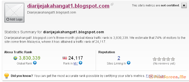Alexa Rank BLOG DJH??