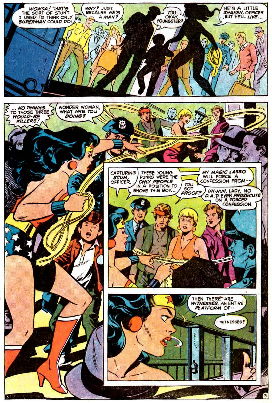 Wonder Woman v1 #269 dc 1970s bronze age comic book page art by Wally Wood