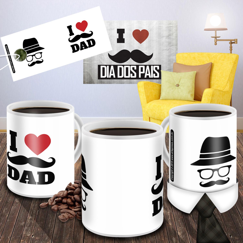 Caneca Dia dos Pais I Love Dad 02