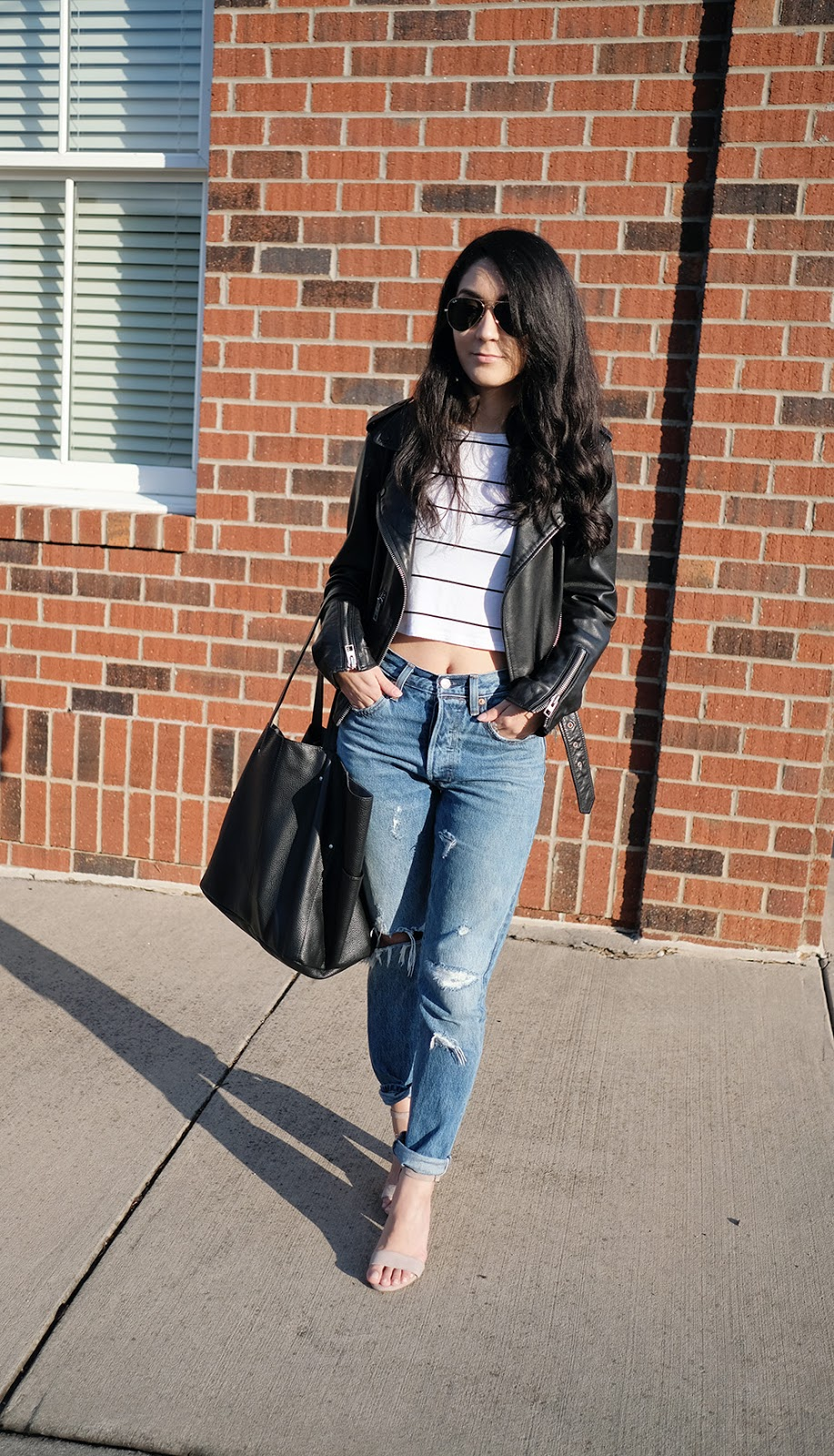 how to wear denim in the spring