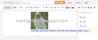 Menambahkan gambar artikel, edit gambar, add picture, edit picture