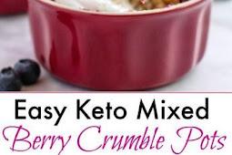 #TOPRECIPES Keto Mixed Berry Crumble Pots