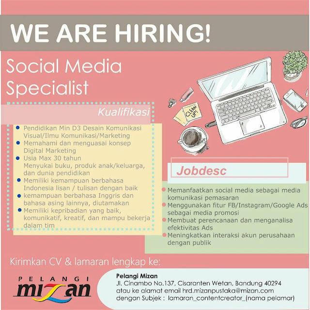 Lowongan Sosial Media Specialist