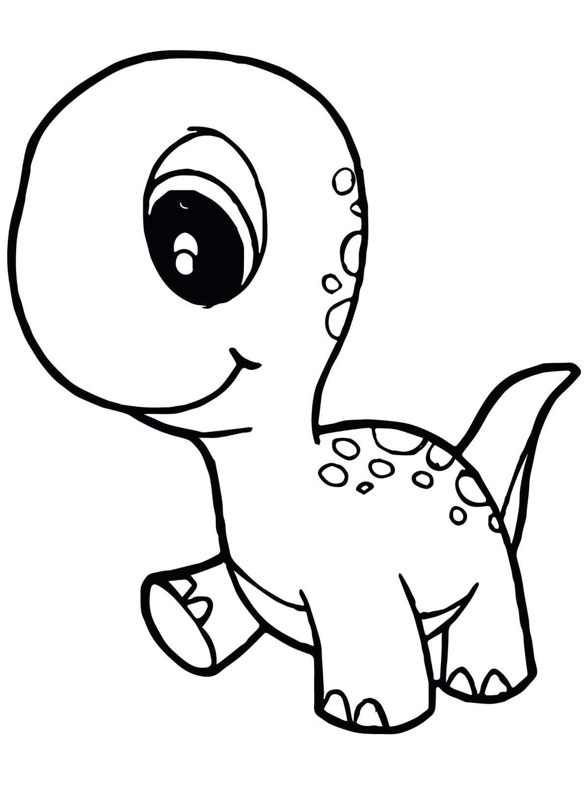 Tranh tô màu khủng long con