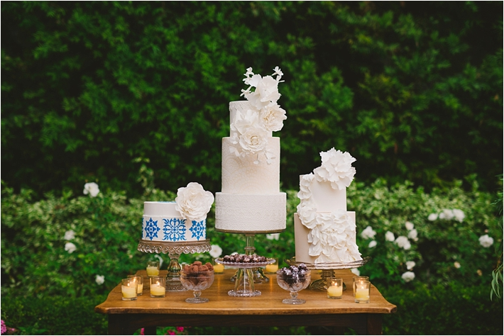 Elegant Spanish and Lace inspired wedding cakes
