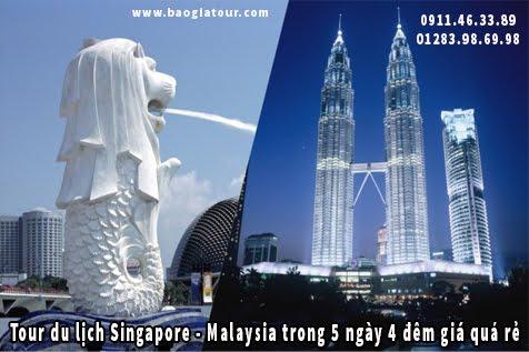 Tour du lịch Singapore và Malaysia trong 5 ngày 4 đêm giá quá rẻ