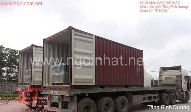 Nhập nguyên container ngói lợp F10