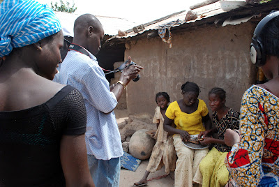 Lamy Fatty films family members at the home of the CMC Coordinator in Karcia, Senegal.