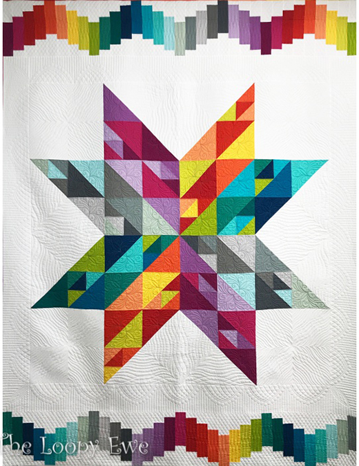 Summer Star Quilt Free Pattern Designed by Robert Kaufman Fabrics.
