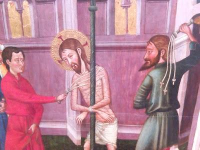 flagelacion azote latigo medieval maestro de rubio museo de vic
