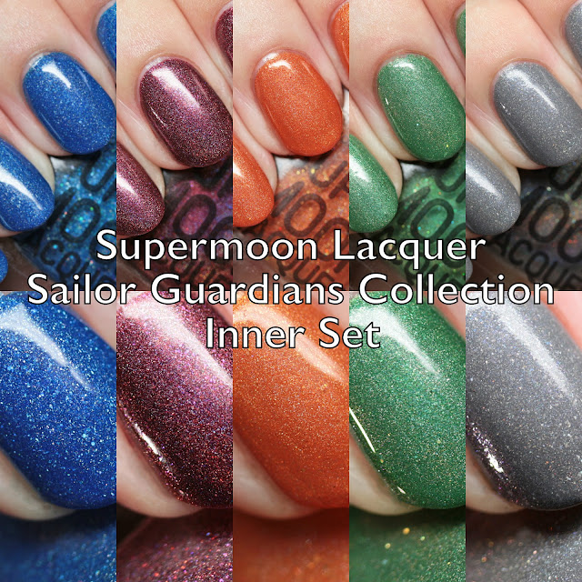 Supermoon Lacquer Sailor Guardians Collection Inner Set
