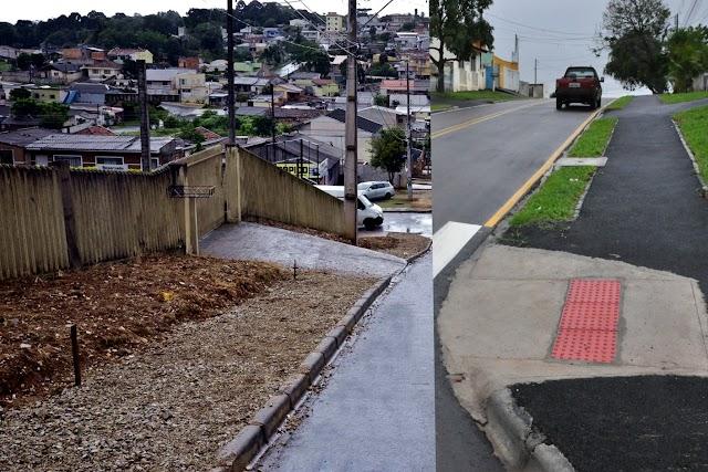 Obras de calçadas garantem acessibilidade e segurança aos pedestres