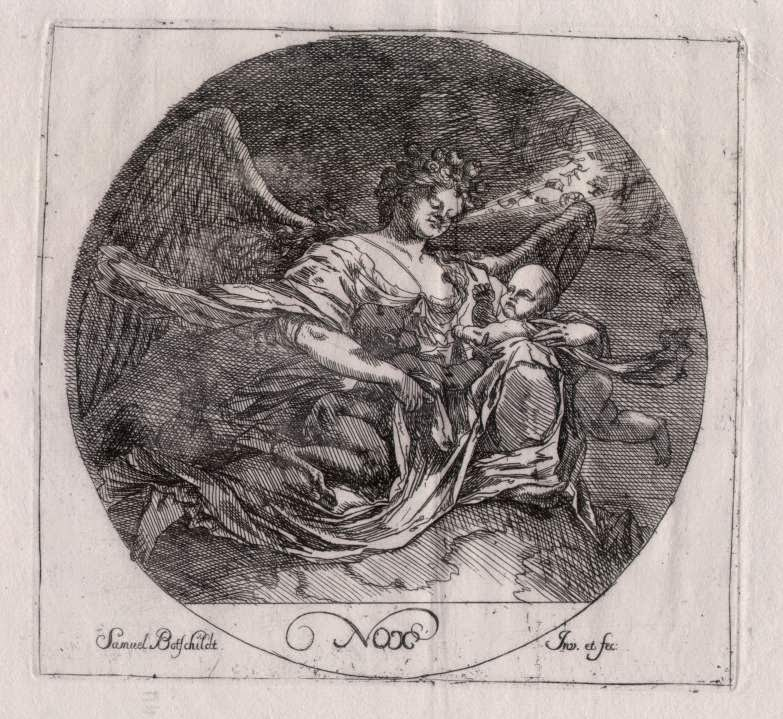 Nox (from the Four Times of Day series) Samuel Bottschild, German, 1640-1707 Image courtesy Wikipedia.de. Available for purchase at Old Masterprint.