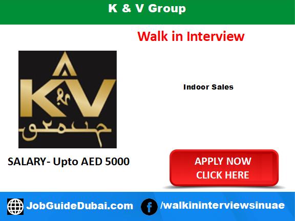 Job in Dubai for indoor sales