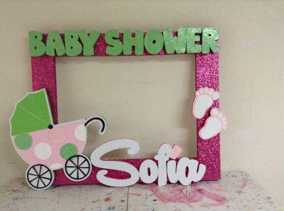 Aprende cómo hacer marcos de baby shower para selfies ~ lodijoella