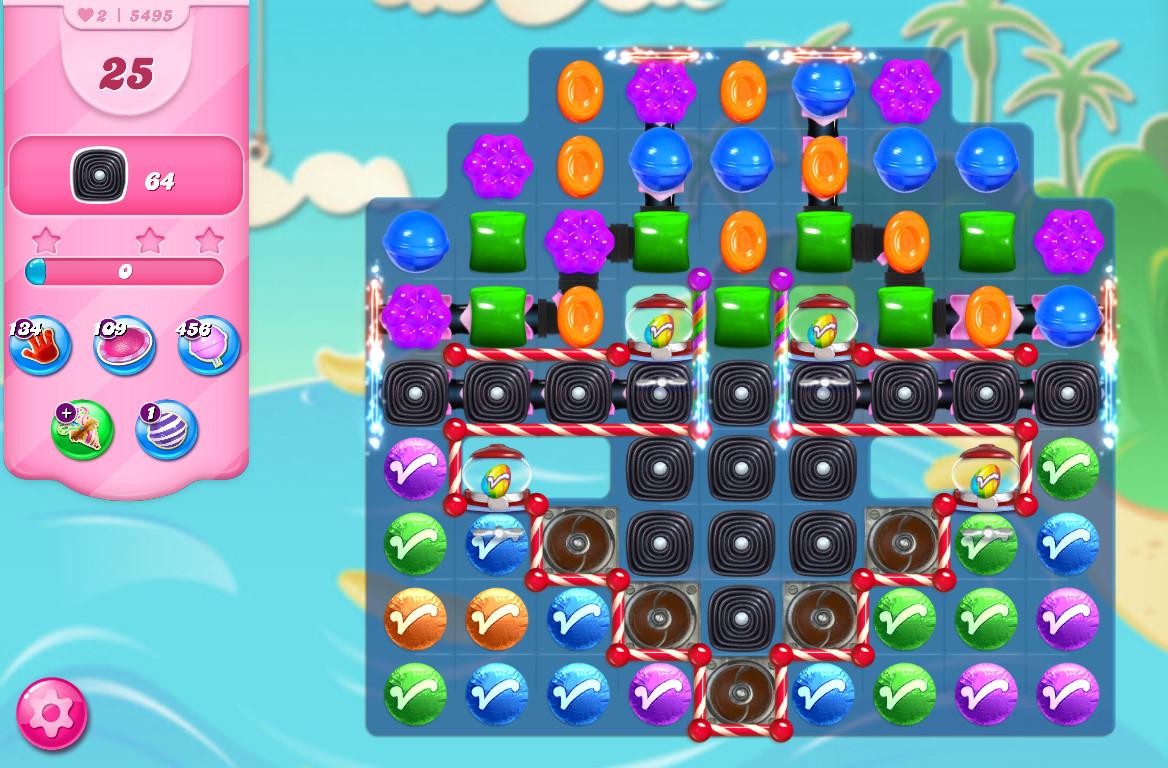 Candy Crush Saga level 5495