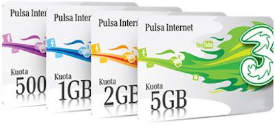 Harga Promo Paket Internet 3 Tri Terbaru 2016