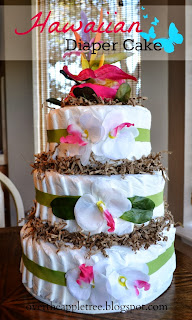Hawaiian Diaper Cake, Over The Apple Tree
