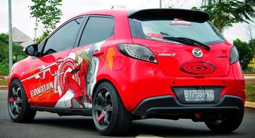 Gambar Modifikasi Mobil Agya Tebaru Warna Putih Biru Silver Dan Merah