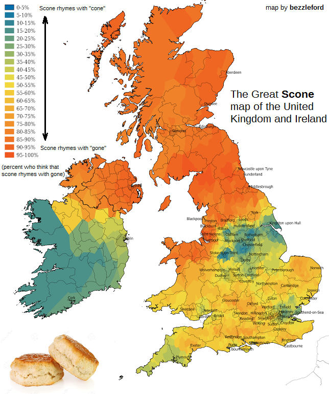 The Great Scone map of the United Kingdom and Ireland