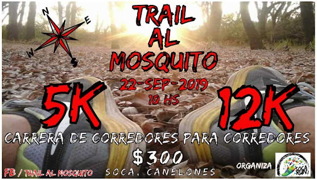 12k y 5k Trail al mosquito (Soca - Canelones, 22/sep/2019)