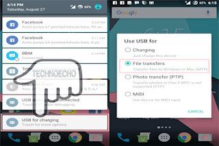 cara mengaktifkan mtp di android