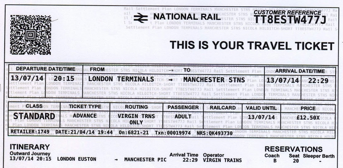 Travelling by a train without ticket